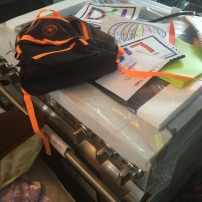 My fabulous range reduced to storing backpacks and coloring pages. Soon, you will have a home, sweet range. I promise.