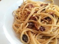 Bacon and Mushroom Carbonara - 3.5 out of 5