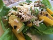Avocado and Mango Salad. DELICIOUS.