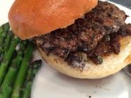 Mushroom Goat Cheese Burger