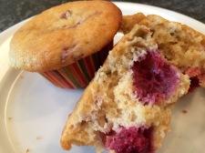 Raspberry-Rhubarb Muffins
