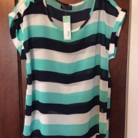 Paper Moon Holden Striped Sheer Blouse