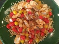 chicken and tomato saute - C's favorite