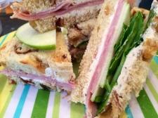 tea sandwich - big hit with H