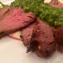 Flank Steak with Cauliflower Puree