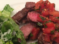 Rib Steak with Tomato Topping