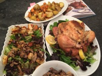 Roast Chicken with mushroom salad