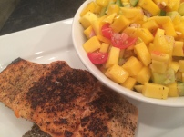 Mango Salsa with Pan Seared Salmon