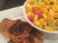 Mango Salsa with Pan Seared Salmon