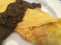 Omelet with Walnut Pesto