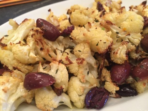 Roasted Cauliflower with Thyme and Olives
