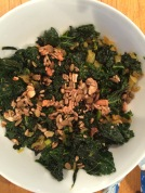 Kale Sauteed with Onions, Leeks, and Tumeric
